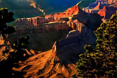 Grand Canyon At Sunset Poster by Bob and Nadine Johnston