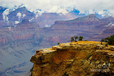 Grand Canyon Clearing Storm Poster by Terry Garvin