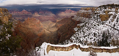 Poster featuring the photograph Grand Canyon In Winter by Brad Brizek