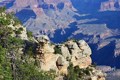 Grand Canyon National Park Cap Rock Formation And Inner Gorge Poster