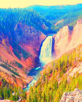 Grand Canyon Of The Yellowstone Poster by Ann Johndro-Collins