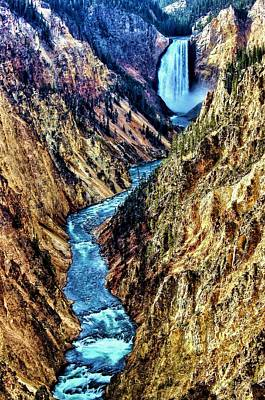 Poster featuring the photograph Grand Canyon Of The Yellowstone by Benjamin Yeager