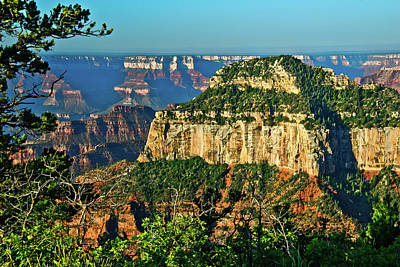 Poster featuring the photograph Grand Canyon Peak Angel Point by Bob and Nadine Johnston