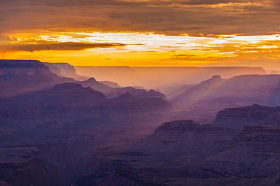 Grand Canyon Sunset Poster