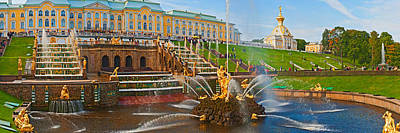 Grand Cascade Fountain In Front Poster by Panoramic Images