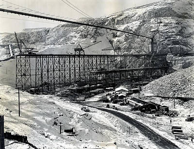 Grand Coulee Dam Construction  C. 1936 Poster by Daniel Hagerman
