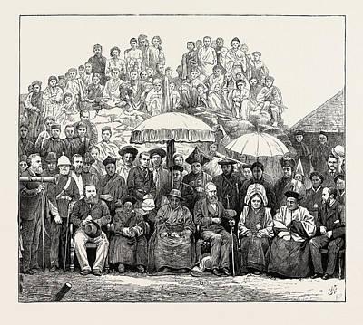 Grand Durbar At Darjeeling, India Return Visit Poster by English School