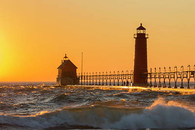Grand Haven South Pier Lighthouse Poster
