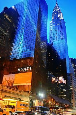 Grand Hyatt Poster by Diana Angstadt