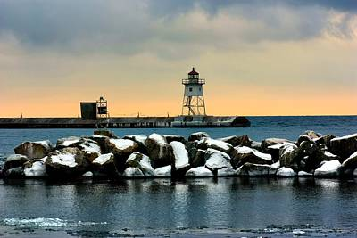 Grand Marais Lighthouse Poster by Amanda Stadther