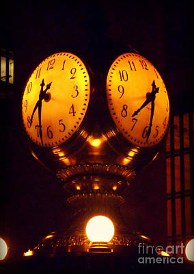 Grand Old Clock - Grand Central Station New York Poster by Miriam Danar