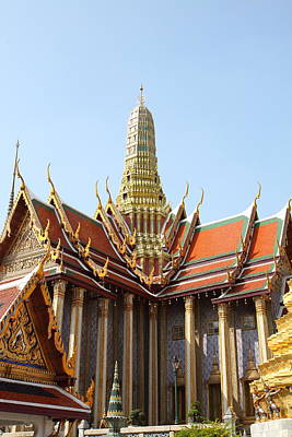 Grand Palace In Bangkok Thailand - 011315 Poster by DC Photographer