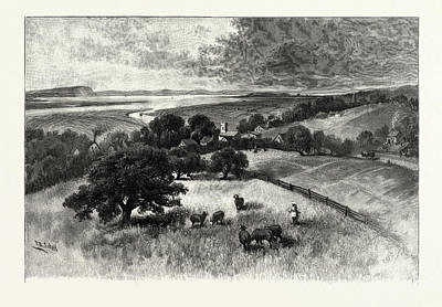 Grand Pre, And Basin Of Minas, From Wolfville Poster by Canadian School