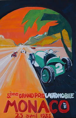Grand Prix Poster by Julie Todd-Cundiff