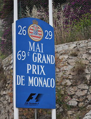 Grand Prix Sign Poster