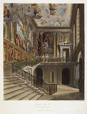 Grand Stair Case, Hampton Court Poster