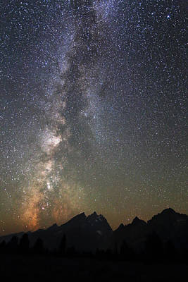 Grand Teton And The Milky Way Poster
