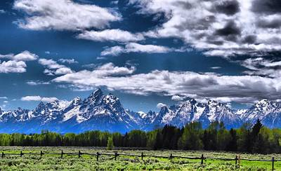 Grand Teton Fence Poster by Dan Sproul