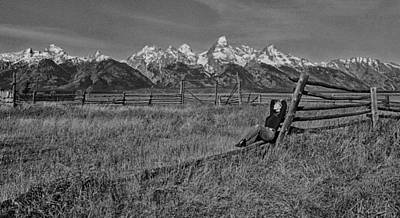 Grand Teton Repose Poster by June Jacobsen