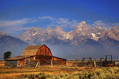 Grand Tetons From Moulton Barn Poster by Alan Vance Ley