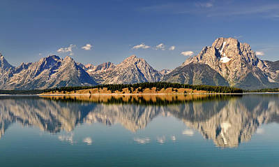 Poster featuring the photograph Grand Tetons by Geraldine Alexander