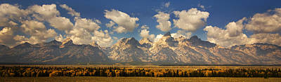 Poster featuring the photograph Grand Tetons by Sonya Lang