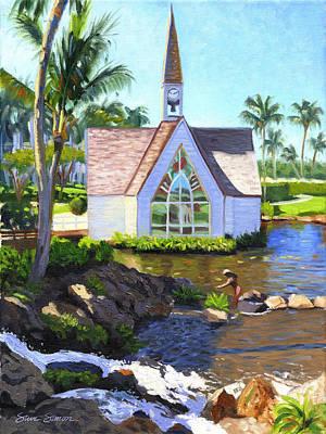 Grand Wailea Seaside Chapel Poster by Steve Simon