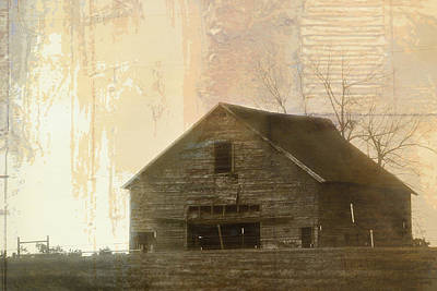 Grandfather's Barn Poster by Lena Wilhite