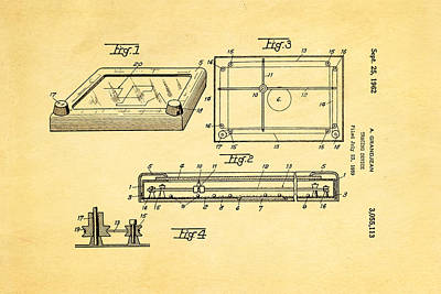 Grandjean Etch A Sketch Patent Art 1962 Poster by Ian Monk