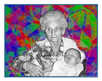 Grandma And Rose Poster by Joan  Minchak