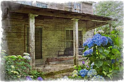 Grandma's Porch Poster by Debra and Dave Vanderlaan
