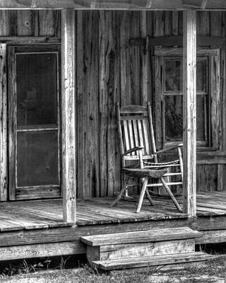 Poster featuring the photograph Grandma's Rocker by Dawn Currie
