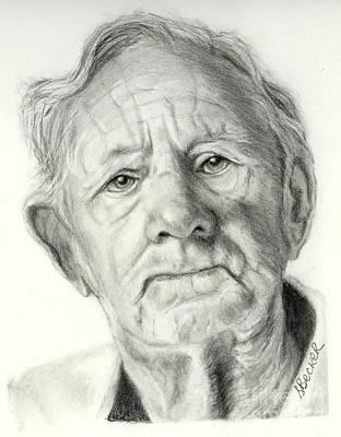 Grandpa Full Of Grace Drawing Poster