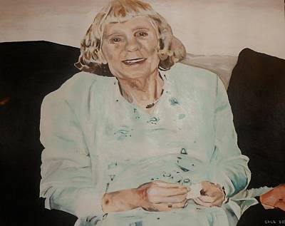 Poster featuring the painting Granny by Cherise Foster