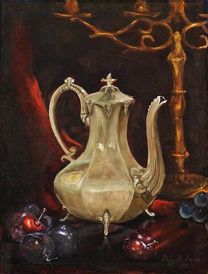 Poster featuring the painting Grannys Teapot by Dan Redmon
