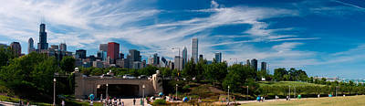 Grant Park Chicago Skyline Panoramic Poster by Adam Romanowicz