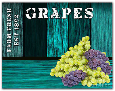 Grape Sign Poster by Marvin Blaine
