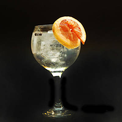 Grapefruit Gin Tonic Poster by Gina Dsgn