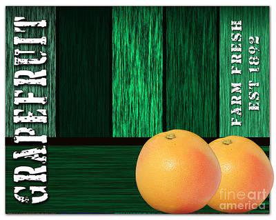 Grapefruit Sign Poster