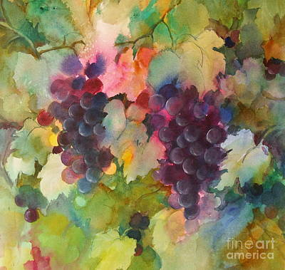 Poster featuring the painting Grapes In Light by Michelle Abrams