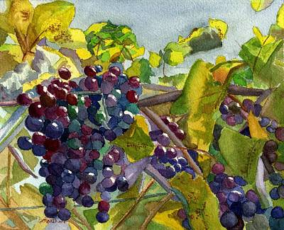 Poster featuring the painting Grapevines by Lynne Reichhart