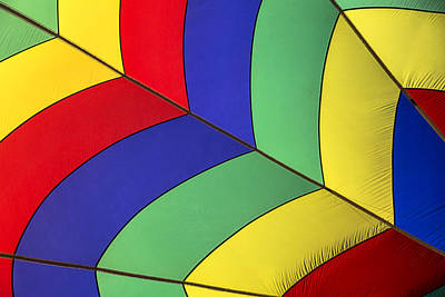 Graphic Hot Air Balloon Detail Poster by Garry Gay