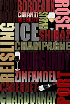 Graphic Wine 2 Poster by Andrew Fare