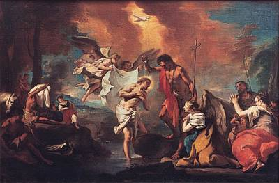 Grassi Nicola, Baptism Of Christ, 18th Poster by Everett