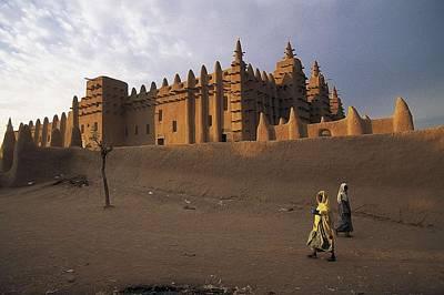 Grat Mosque Of Djenn�. S.xiv. Mali Poster by Everett