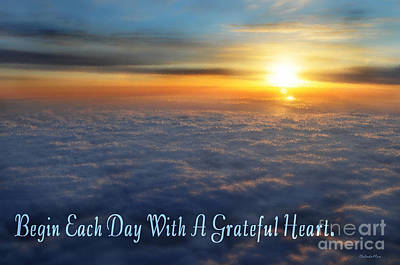 Grateful Heart Poster by Belinda Rose