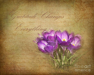 Gratitude Changes Everything Poster by Kathi Mirto
