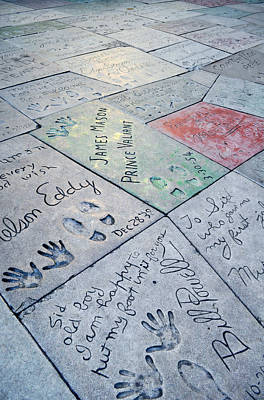 Grauman's Chinese Theatre Footprints Poster by Kyle Hanson