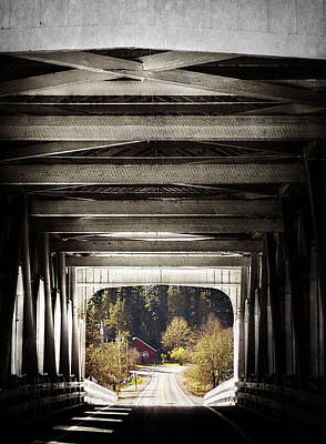 Grave Creek Covered Bridge Poster by Melanie Lankford Photography