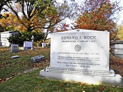Grave Of Nyc Mayor Ed Koch Poster